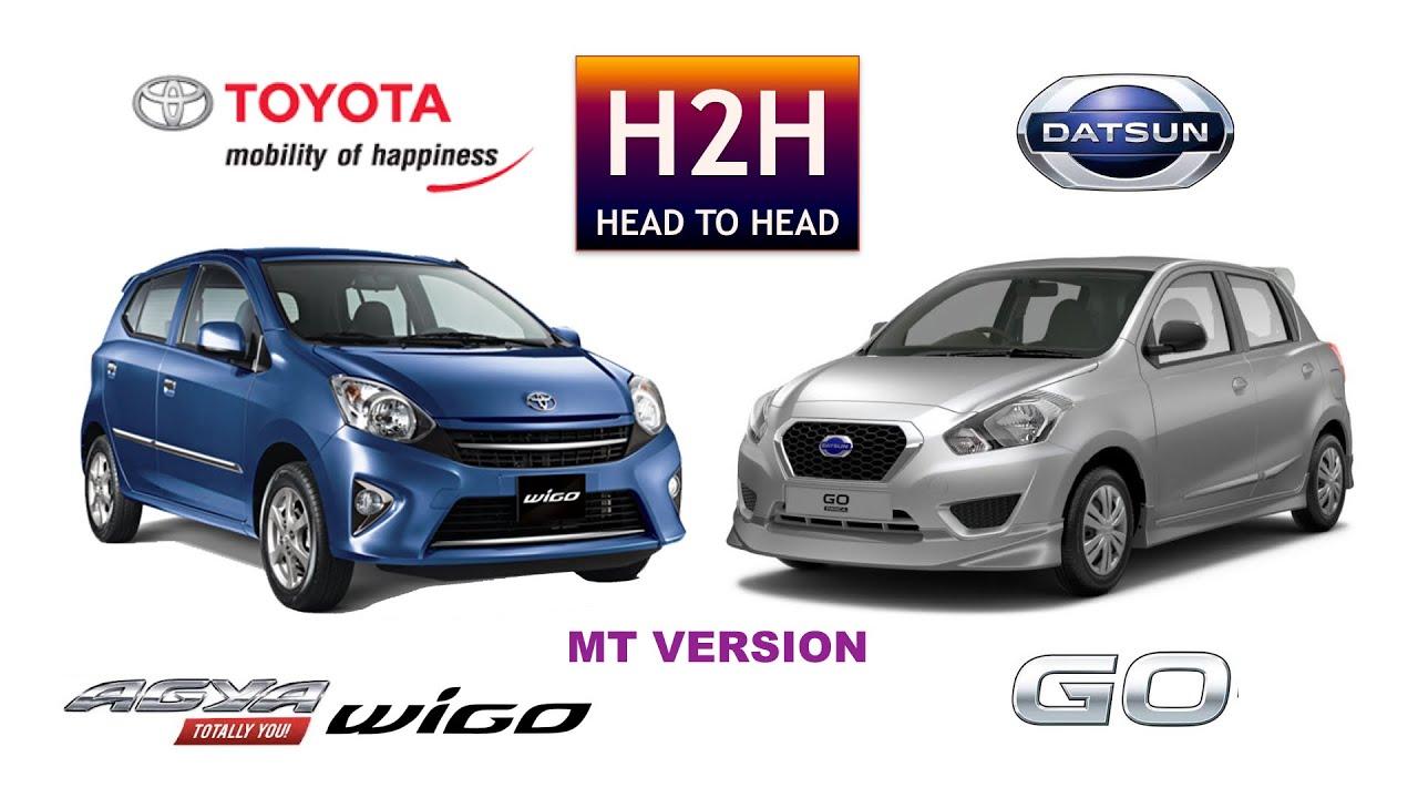 H2H #74 Toyota AGYA/WIGO vs Datsun GO - YouTube