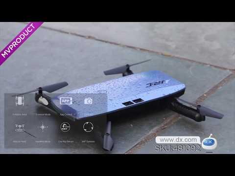720P HD Camera,-JJRC H47 Elfie+ Mini Foldable Wi-Fi Drone Quadcopter - Blue