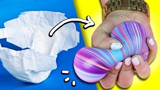 SQUISHY STRESS BALL out of DIAPERS! ♥ DIY