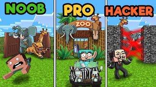 Minecraft - ZOO TYCOON! (NOOB vs PRO vs HACKER)