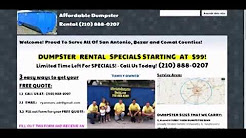 San Antonio Dumpster Rental - (210) 888-0207 - $199 Specials