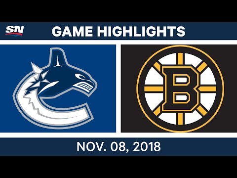 NHL Highlights | Canucks vs. Bruins – Nov. 8, 2018