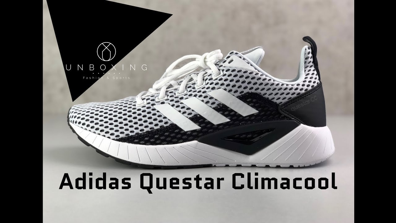 Trágico Cabecear Sentimiento de culpa  Adidas Questar Climacool 'white/black' | UNBOXING & ON FEET | fashion shoes  | 2019 - YouTube
