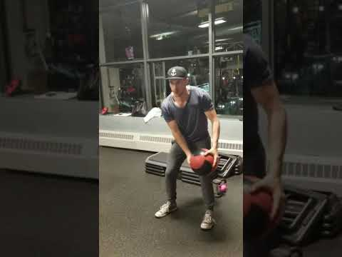 Medicine Ball Wood Chops - High to Low