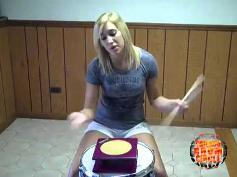 Hannah Ford- hot Drummer gives Lesson- cool!