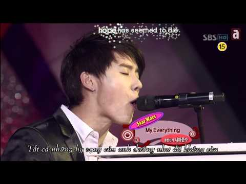 Junsu & Taeyang Piano Battle (Don't wanna try + My everything) with Lyrics