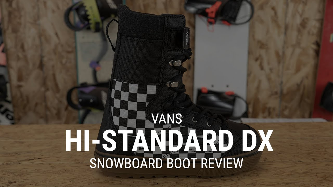 04d6362cb6 Vans Hi-Standard Linerless DX 2019 Snowboard Boot Review- Tactics ...