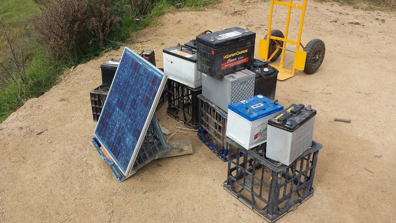 Off Grid Solar Power Diy Led Lighting Youtube Garden Using Cells