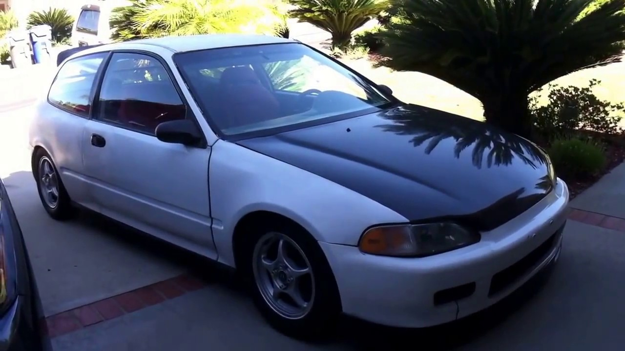 bys front lip eg civic install youtube