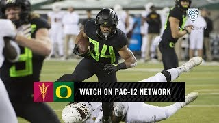 First half highlights: Oregon football offense rumbles to 28-13 lead over ASU