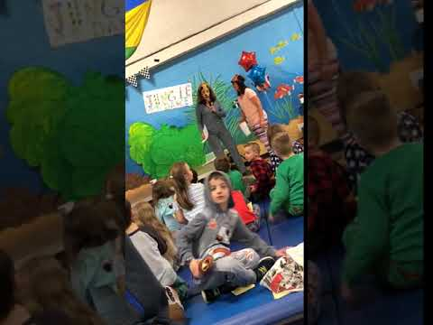 Pedros bedtime story at Reeds Ferry School