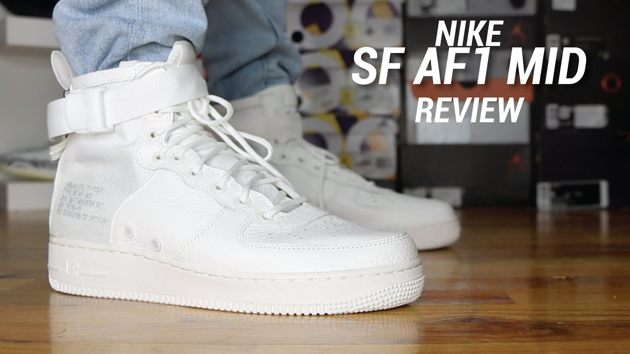 NIKE SF AF1 MID TRIPLE IVORY REVIEW - YouTube 99d827689b