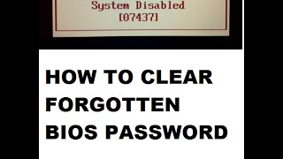 How to reset Bios password step by step Explained