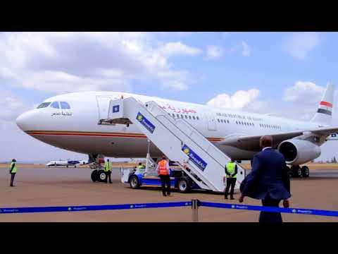 Arrival of H E ABDEL FATTAH EL SISI at KIGALI International Airport
