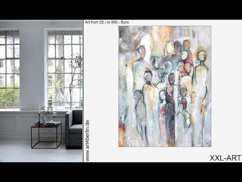 kunst g nstig kaufen malerei gem lde bilder sch ner wohnen youtube. Black Bedroom Furniture Sets. Home Design Ideas