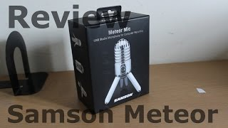 Samson Meteor USB Mic Review, Unboxing and Mic Test (HD)