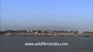 100 million on the banks of the Ganga River during Maha Kumbh