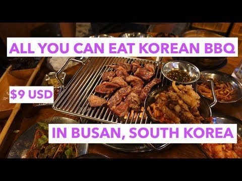 $9USD All You Can Eat KBBQ in Busan, South Korea