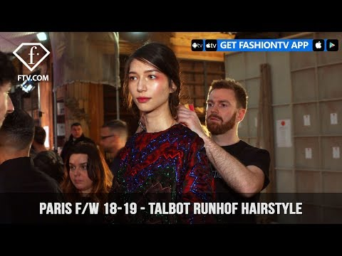 Talbot Runhof Braided Hairstyle Paris Fashion Week Fall/Winter 2018-19 | FashionTV | FTV