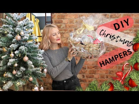 3 DIY Christmas Hamper Ideas | Home Bargains Holiday Gift Baskets (Dollar Tree)