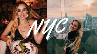 NYC VLOG!! 20th birthday with friends and christmas shopping