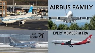 ALL Airbus Aircraft Types (incl. A350) at FRA!