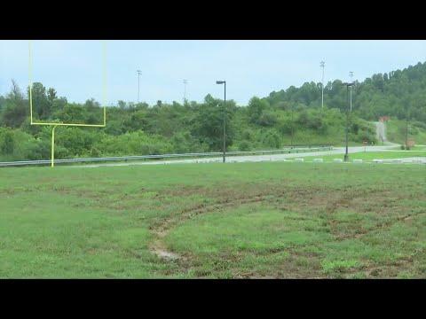Sissonville Middle School football field vandalized
