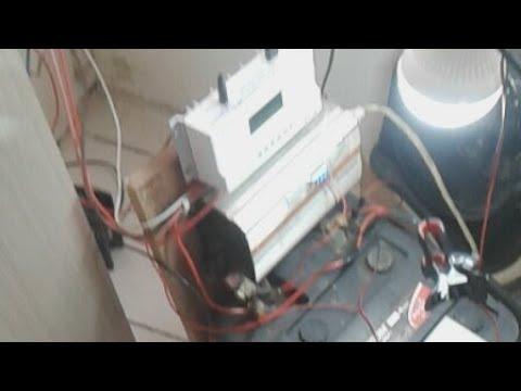 Energia Solar mantendo a casa toda ligada inversor 1000w energy free