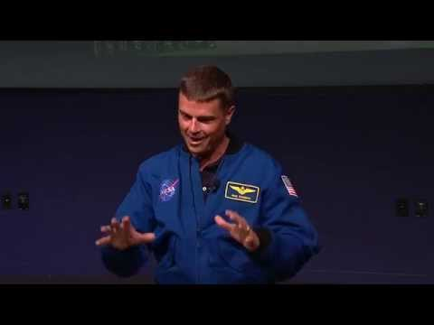 Expedition 41 flight Engineer Astronaut Reid Wiseman Gives P