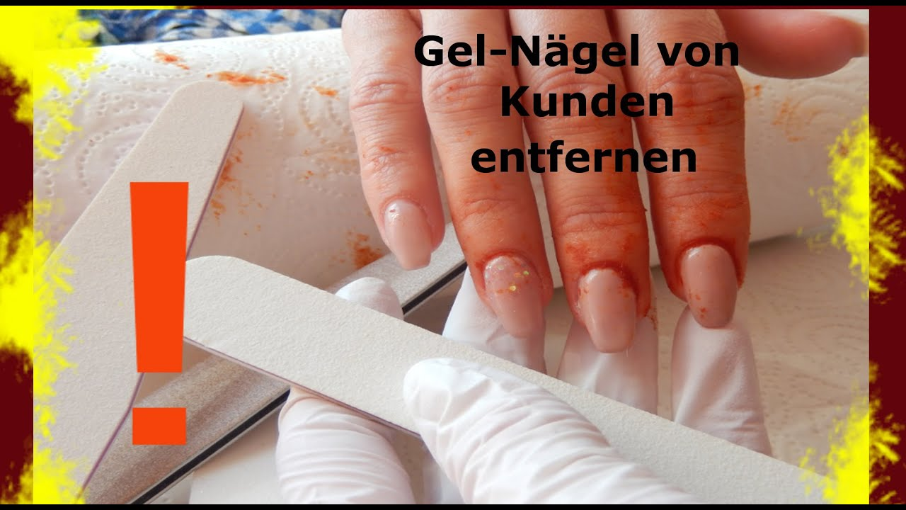 Gel Nägel Von Kunden Entfernen Kunden Schmerzen Gel Nägel
