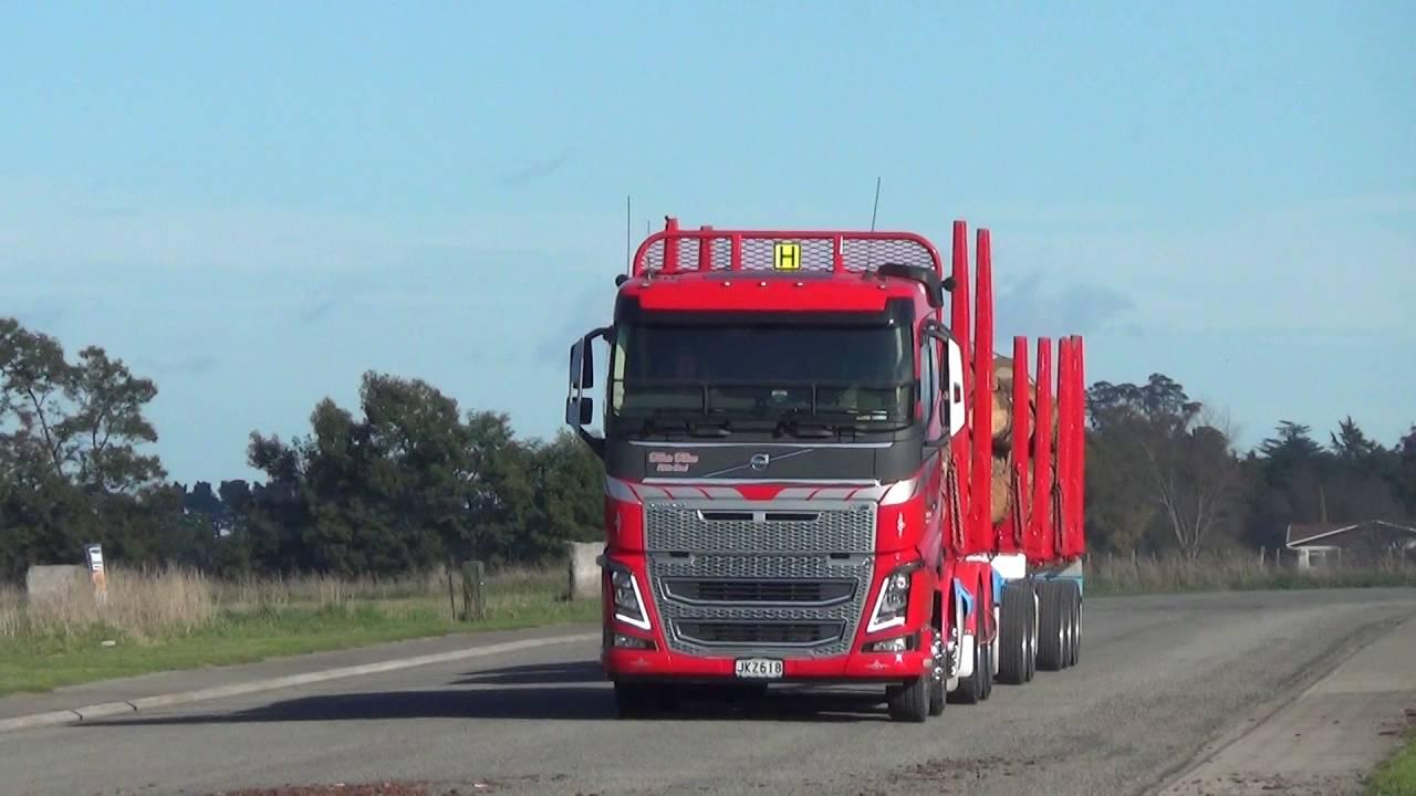 Trucks New Zealand McCarthy Transport Volvo, Forsta Klass - YouTube