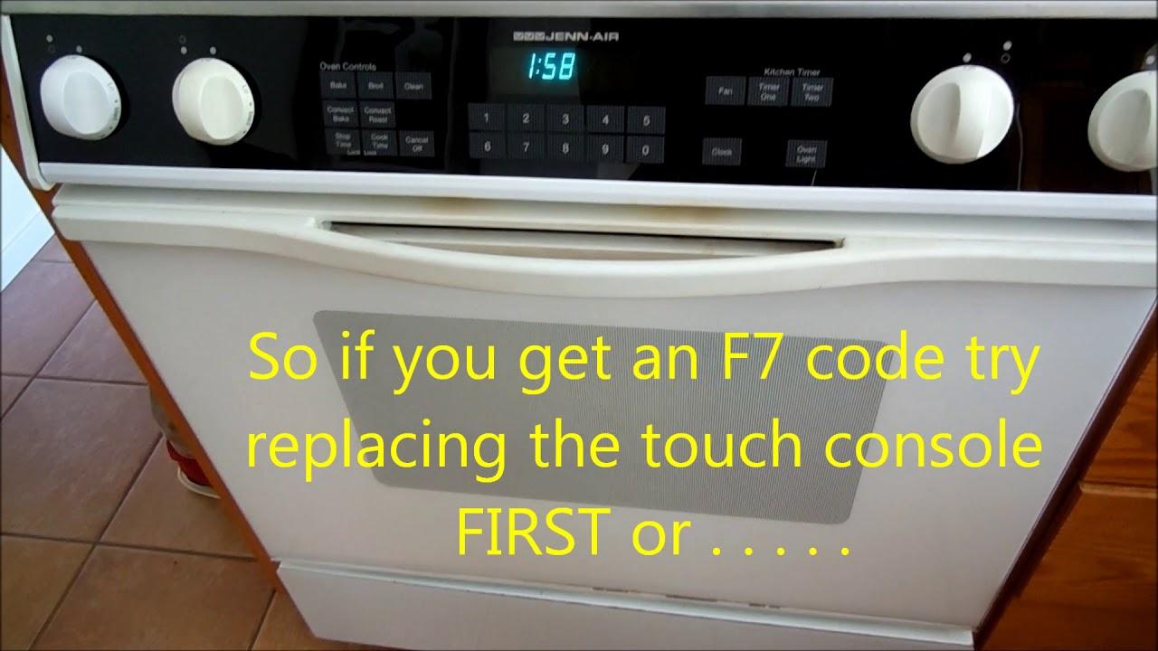 KitchenAid Range F7 Error Fix
