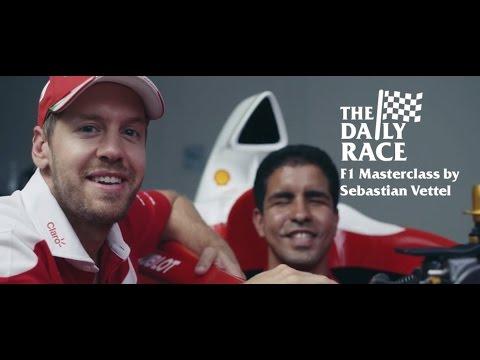 F1 Masterclass by Sebastian Vettel - Vettel makes Enhamed's dream of driving a F1 car come true