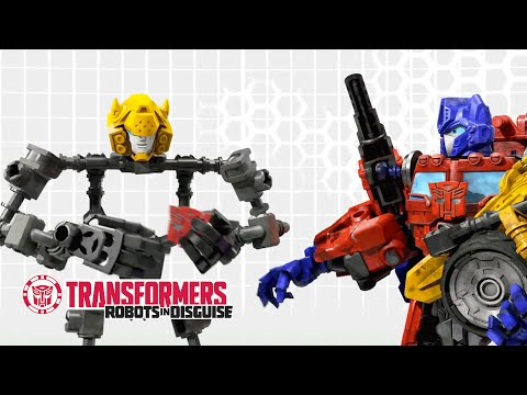 Transformers: Construct-Bots - Optimus Prime Helps Complete Bumblebee