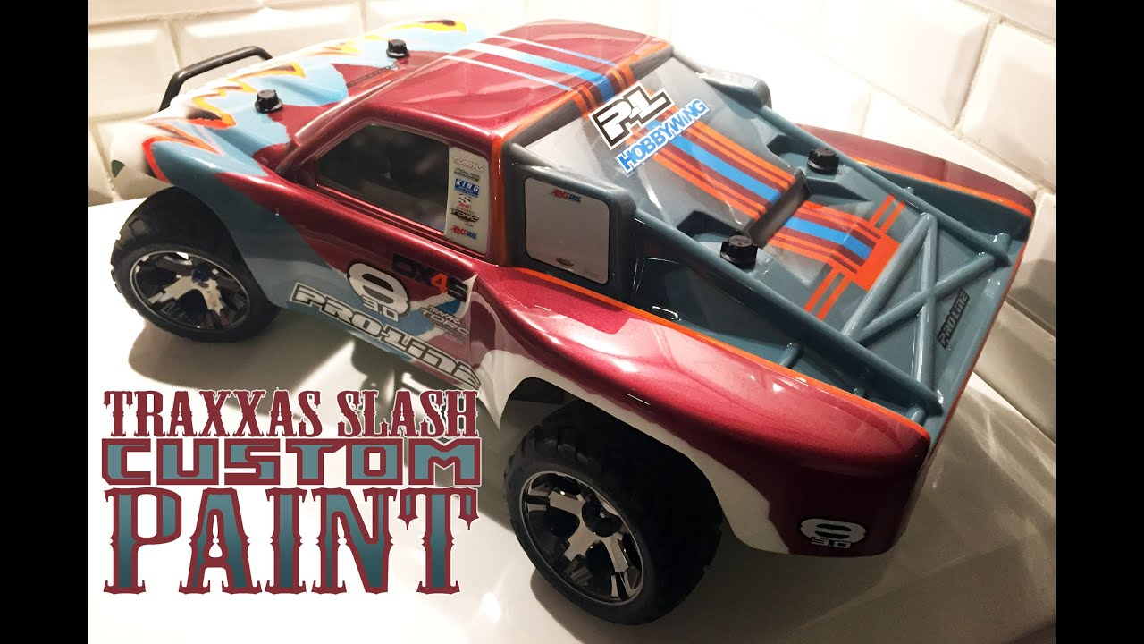 TRAXXAS SLASH RC CUSTOM PAINTED BODY short course