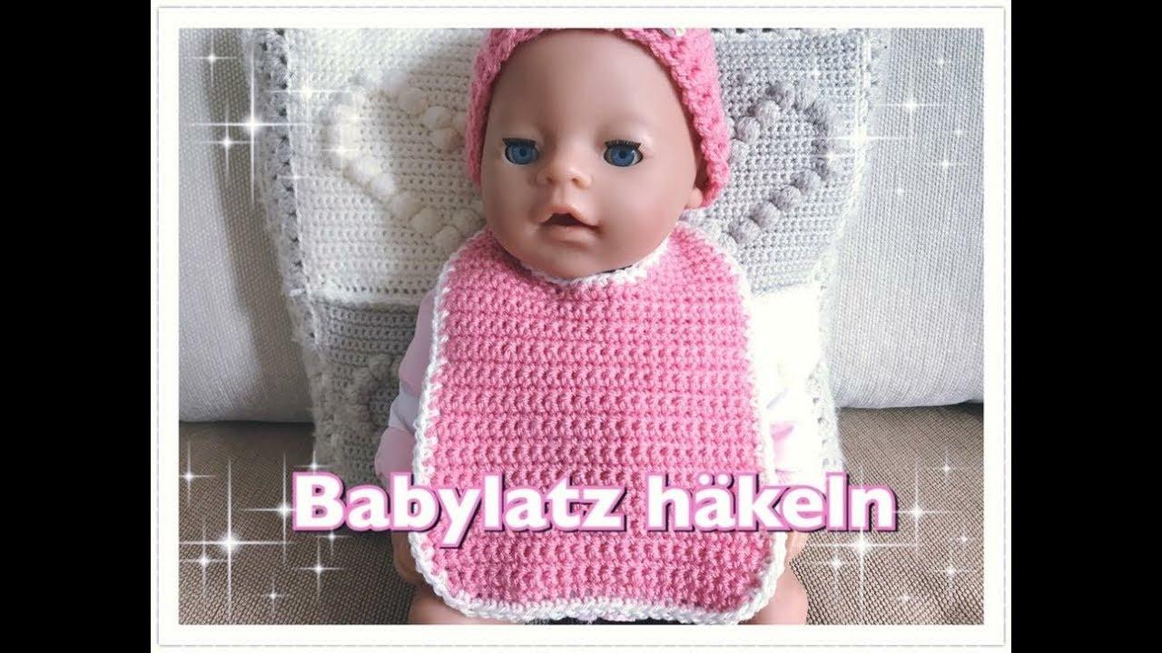 Babylatz häkeln / Latz häkeln / Lätzchen häkeln für Anfänger - YouTube