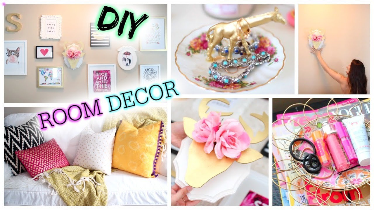 Diy tumblr room decor cute affordable youtube for Cute diy bedroom ideas