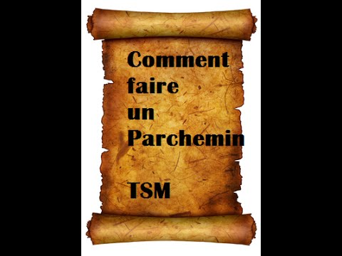Tuto comment faire un parchemin youtube - Comment faire un coussin capitonne ...