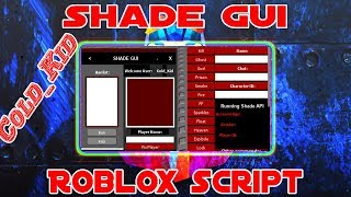 [BEST HUB EVER] ROBLOX SCRIPT | Shade GUI| amazing ui, amazing cmds, script and much more [SHOWCASE]