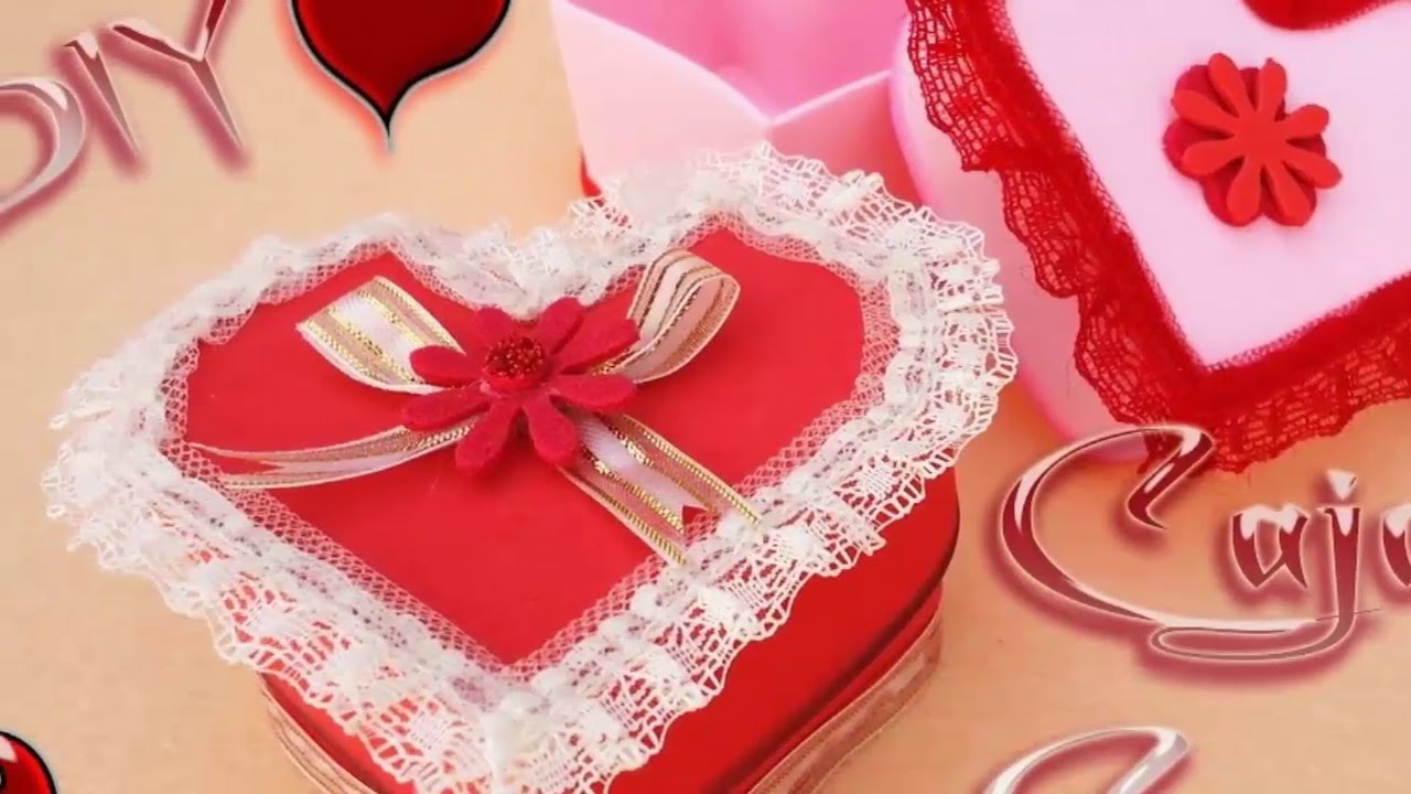 Decoraciones de san valentin en foami youtube Adornos san valentin manualidades