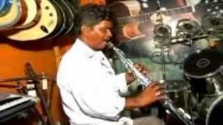 Soprano Saxophone Playing Indian..