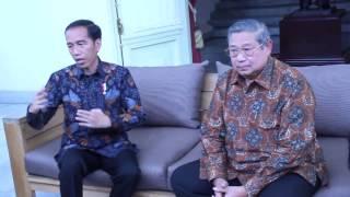Terima SBY, Presiden Jokowi: Kita Bicara Banyak Hal Yang Berkaitan Dengan Politik Nasional