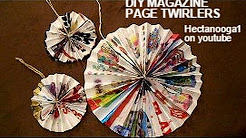 MAGAZINE page paper twirlers, Crafts For Kids By Emi, recycle, reuse