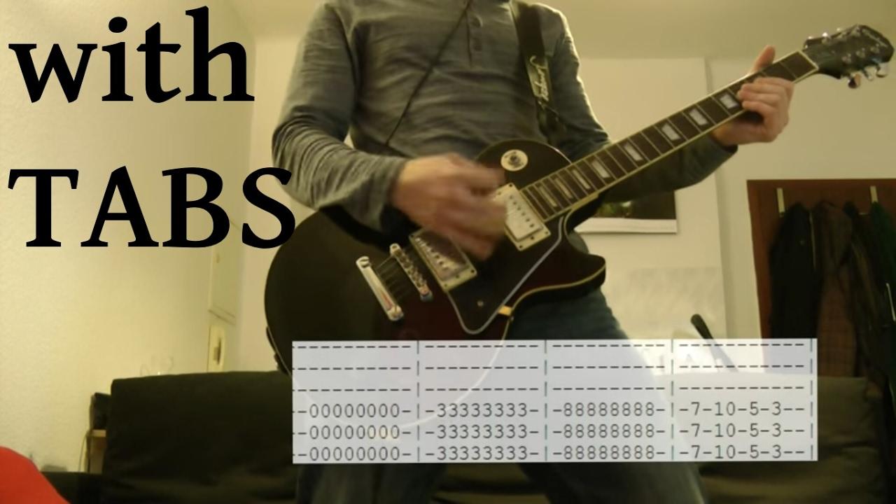 Skillet Monster Guitar Cover Wtabs On Screen Youtube