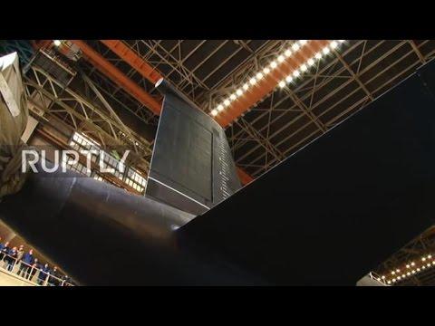 Russia: novo submarino russo de ataque nuclear, chamado Kazan, lançado em Severodvinsk