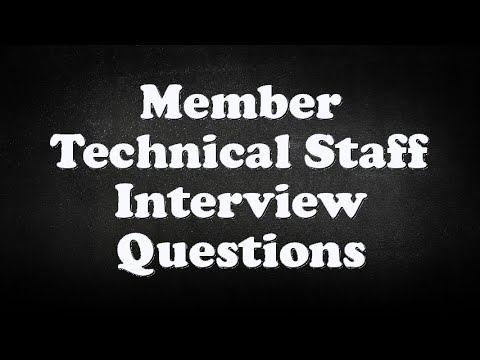 Member Technical Staff Interview Questions Youtube