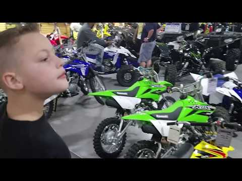 Let's go get his new 2017 kx65  dirt bike!!