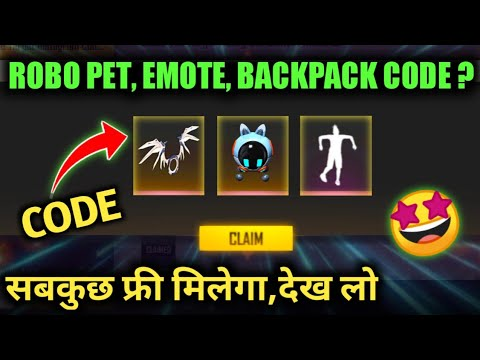 FREE ROBO PET, EMOTE AND RARE BACKPACK CODE | FREE FIRE NEW EVENT | 18 OCTOBER FFIC TOURNAMENT EVENT