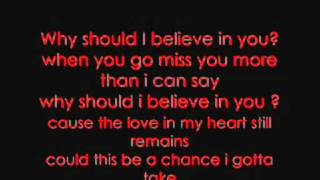 Queensberry - Why Should I Believe In You (with lyrics)