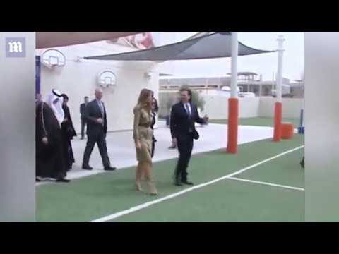 Melania Trump visits Saudi Arabian school, business center